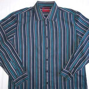 Alfani Men's Fitted Long Sleeve Shirt Sz XL